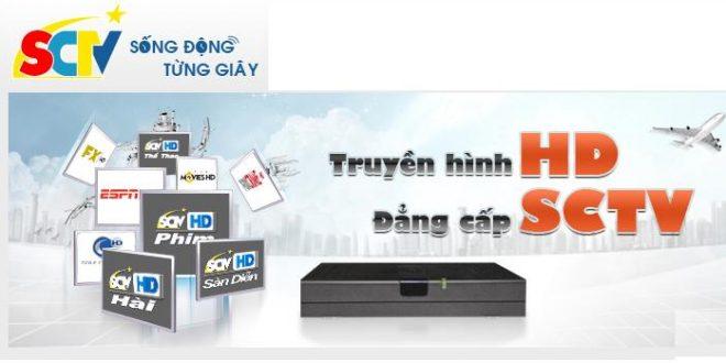 Bảng giá cước truyền hình KTS SD và HD SCTV cập nhật mới nhất