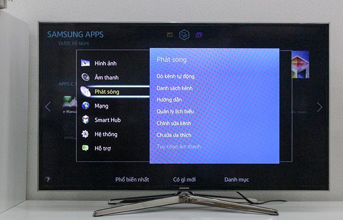 Cách dò kênh đầu thu truyền hình cáp SCTV cho Tivi SamSung
